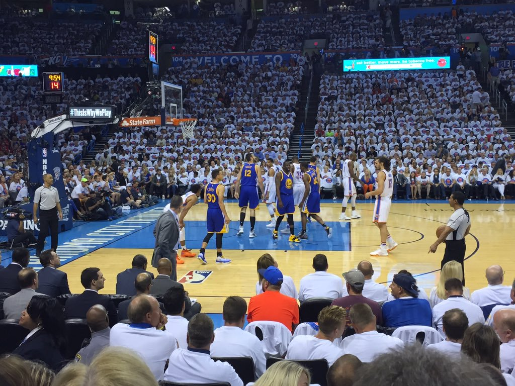 Photo of an Oklahoma City Thunder game at Chesapeake Energy Arena.