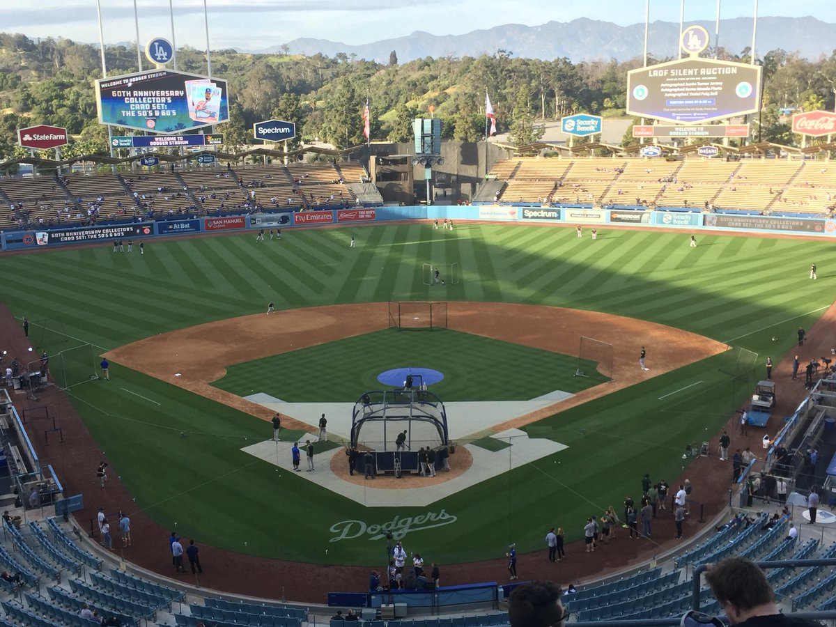 View of Dodger Stadium from the Press Level.