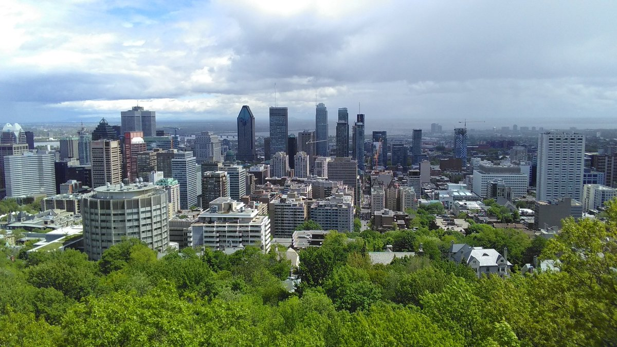 Photo of Downtown Montreal, Quebec.