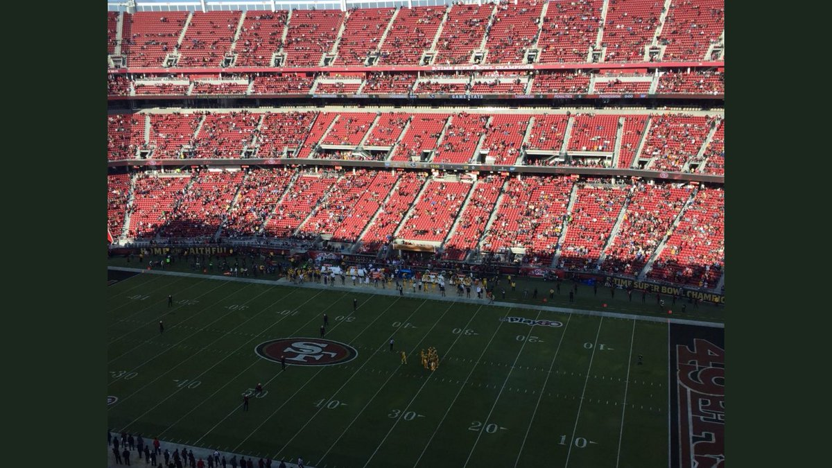 Empty Seats during a San Francisco 49ers home game at Levi's Stadium