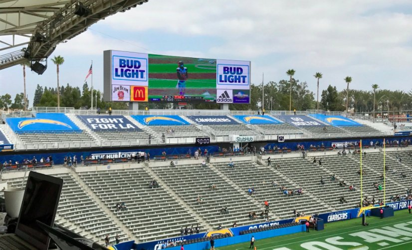 Empty Seats at the Stubhub Center, Home of the Los Angeles Chargers
