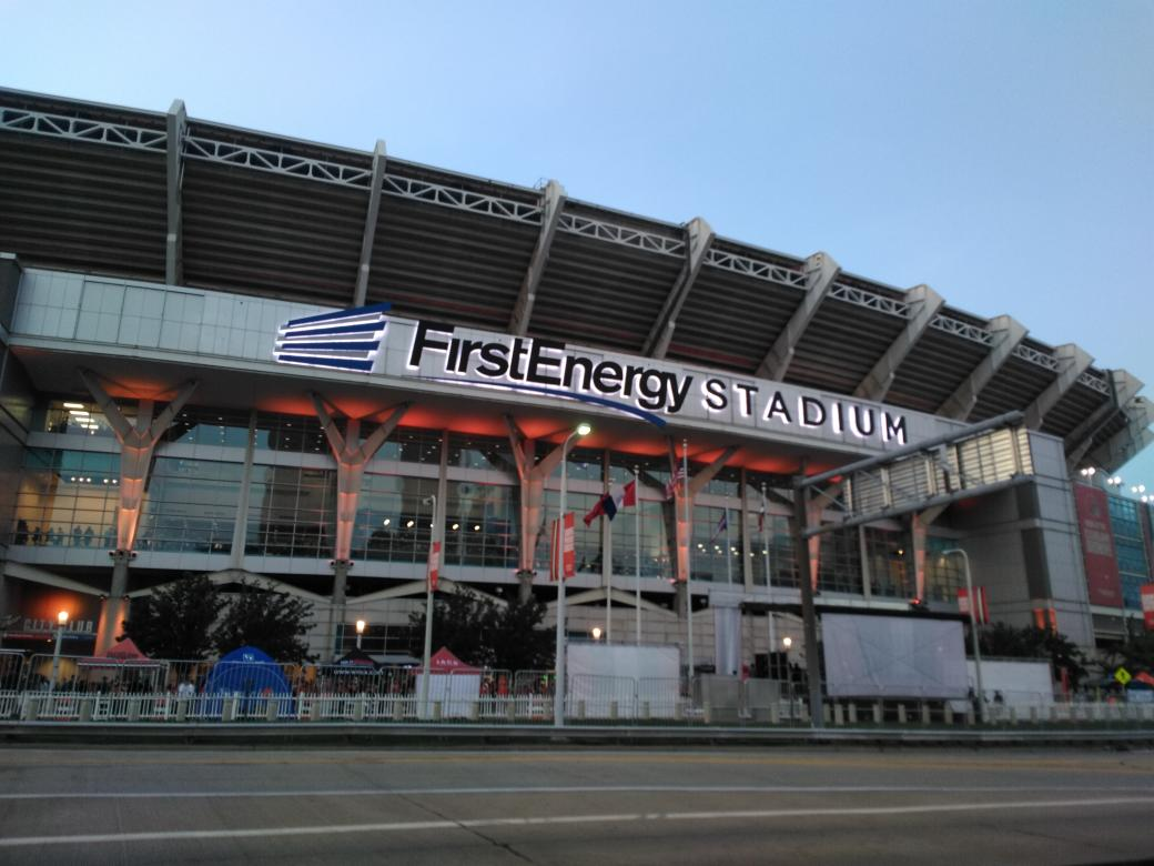 Exterior photo of FirstEnergy Stadium. Home of the Cleveland Browns.