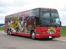 Photo of the Florida Panthers Team Bus.