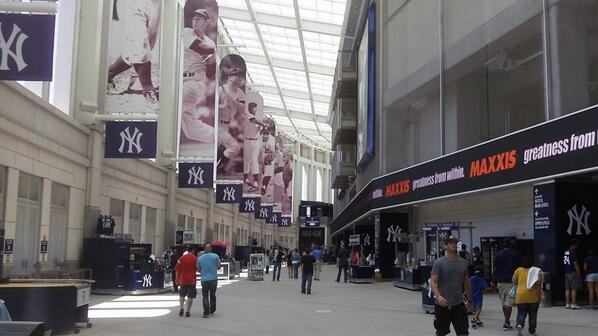 Photo of the main concourse at Yankee Stadium, home of the New York Yankees.