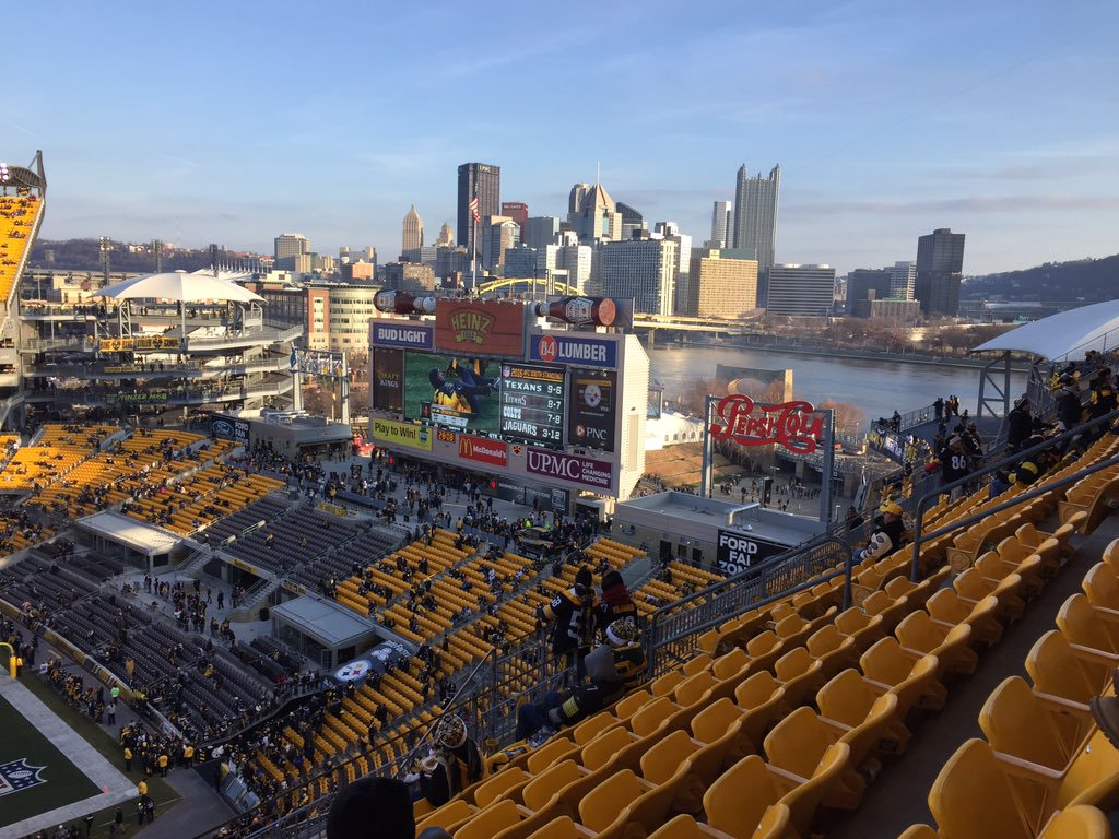 South End Zone at Heinz Field, Home of the Pittsburgh Steelers