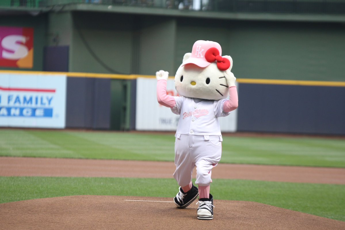 Hello Kitty Night at Miller Park, Home of the Milwaukee Brewers