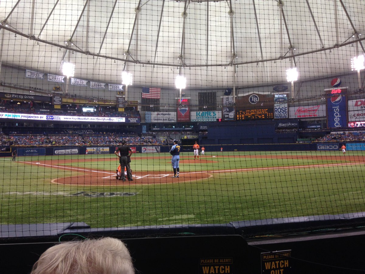 View from the Dex Imaging Home Plate Club at Tropicana Field during a Tampa Bay Rays game.