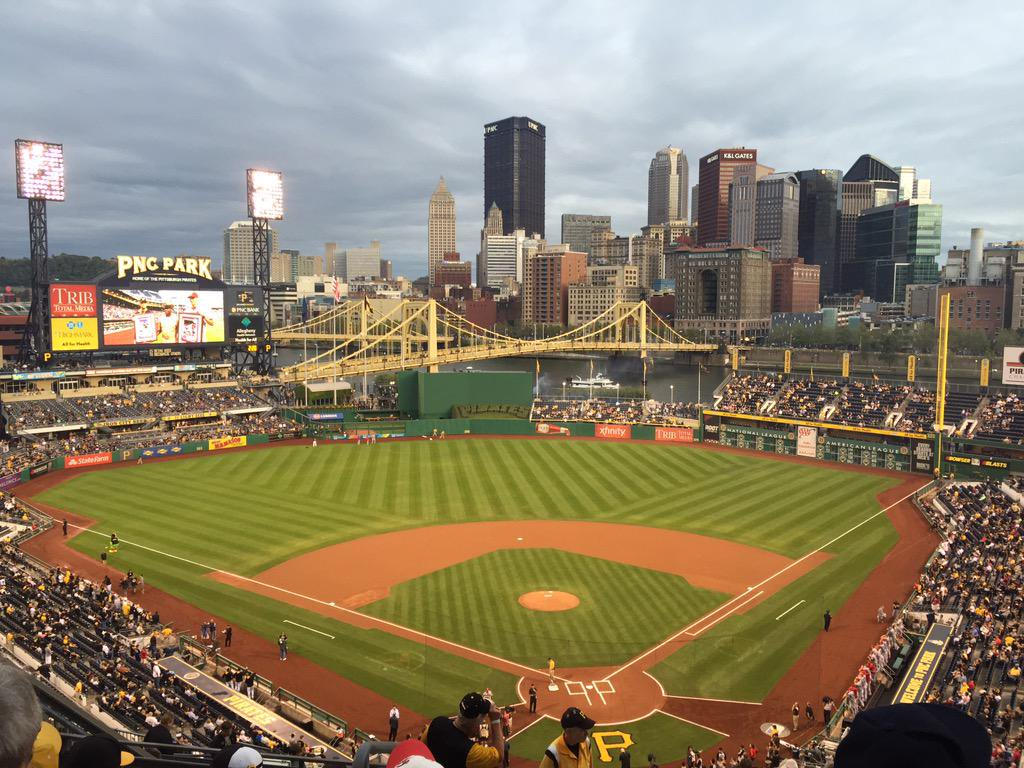 Panoramic photo of PNC Park. Home of the Pittsburgh Pirates.