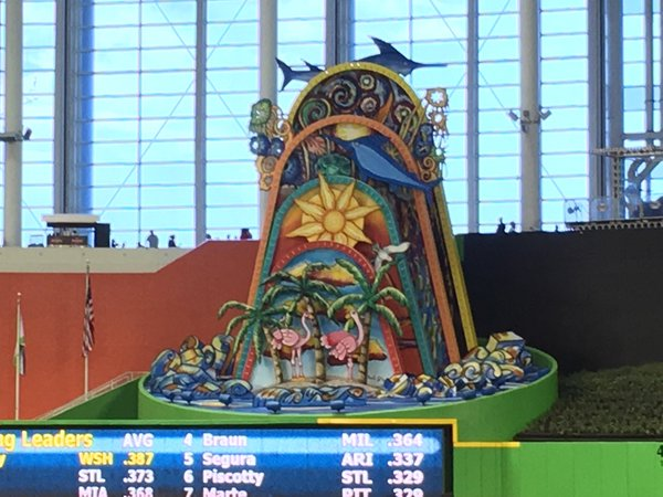Home Run Sculpture at Marlins Park in Miami, Florida