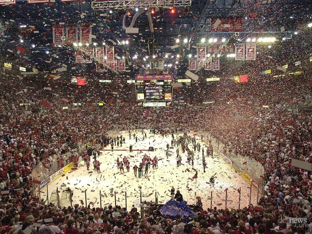 Final home game at Joe Louis Arena in Detroit, Michigan