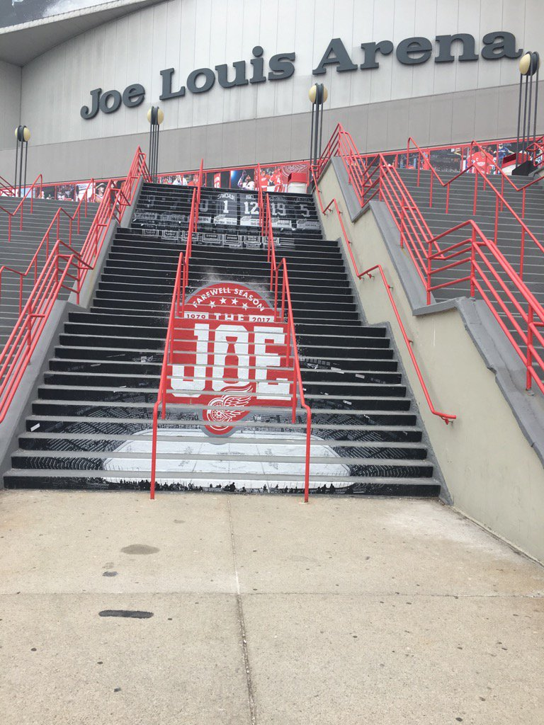 Joe Louis Arena Steps in Detroit, Michigan