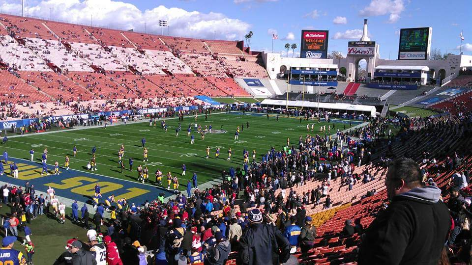 Los Angeles Memorial Coliseum, Home of the Los Angeles Rams