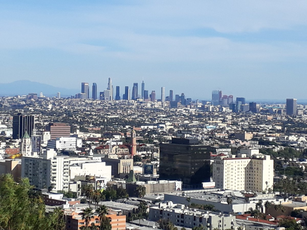 Photo of the downtown Los Angeles skyline.