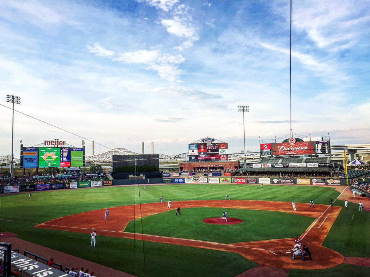 Photo of the field at Louisville Slugger Field, home of the Louisville Bats.