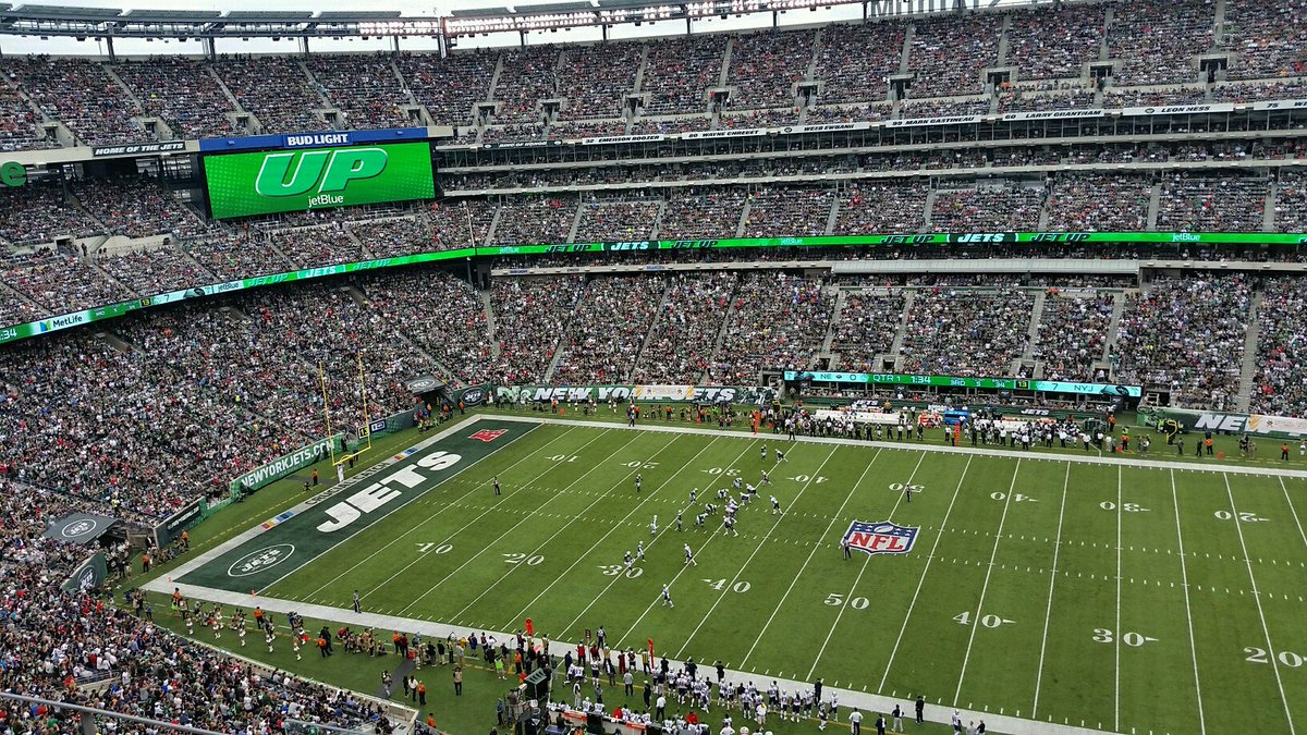 Metlife Stadium during a New York Jets home game