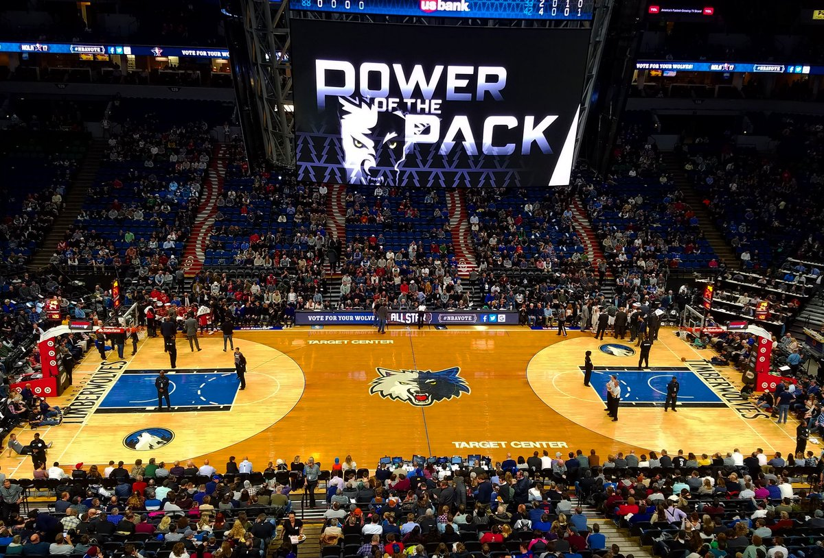 Target Center Court, Home of the Minnesota Timberwolves