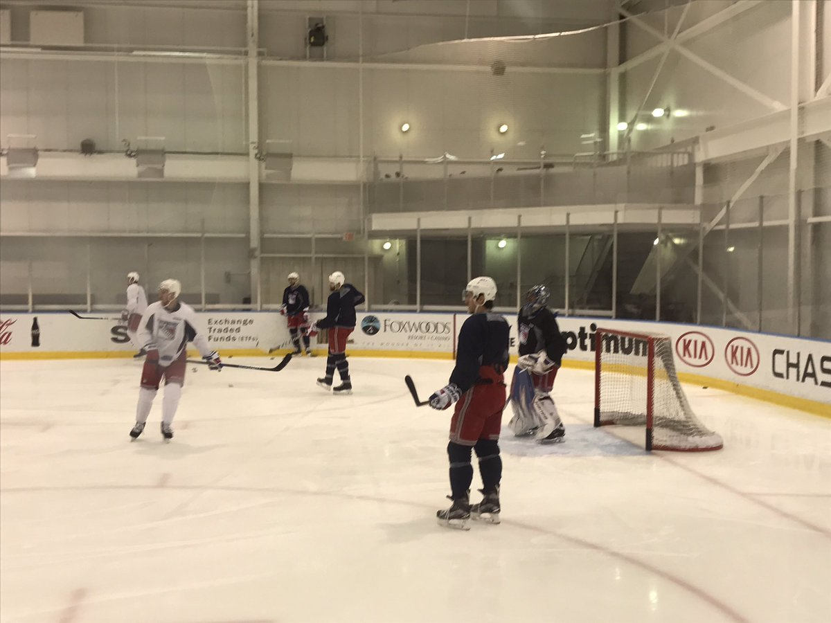 New York Rangers Players during a Morning Skate