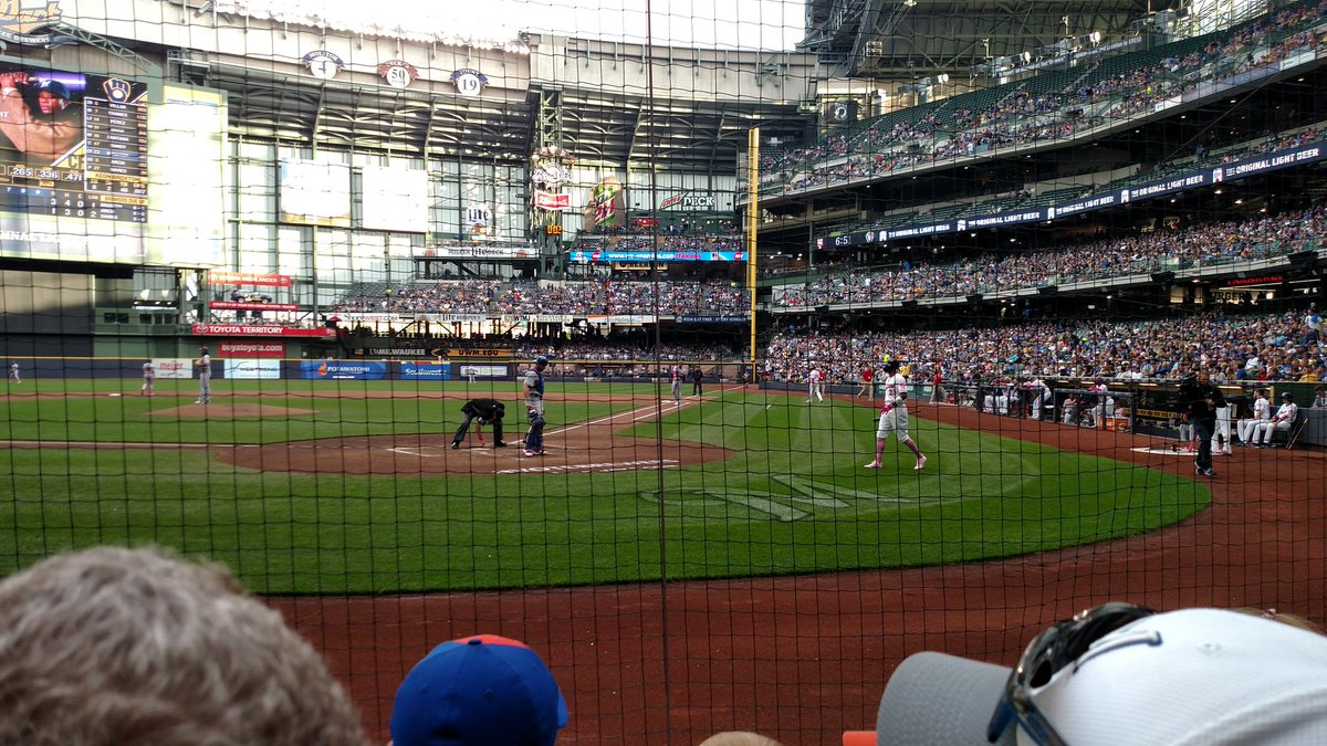 View of Miller Park from behind Home Plate, Home of the Milwaukee Brewers