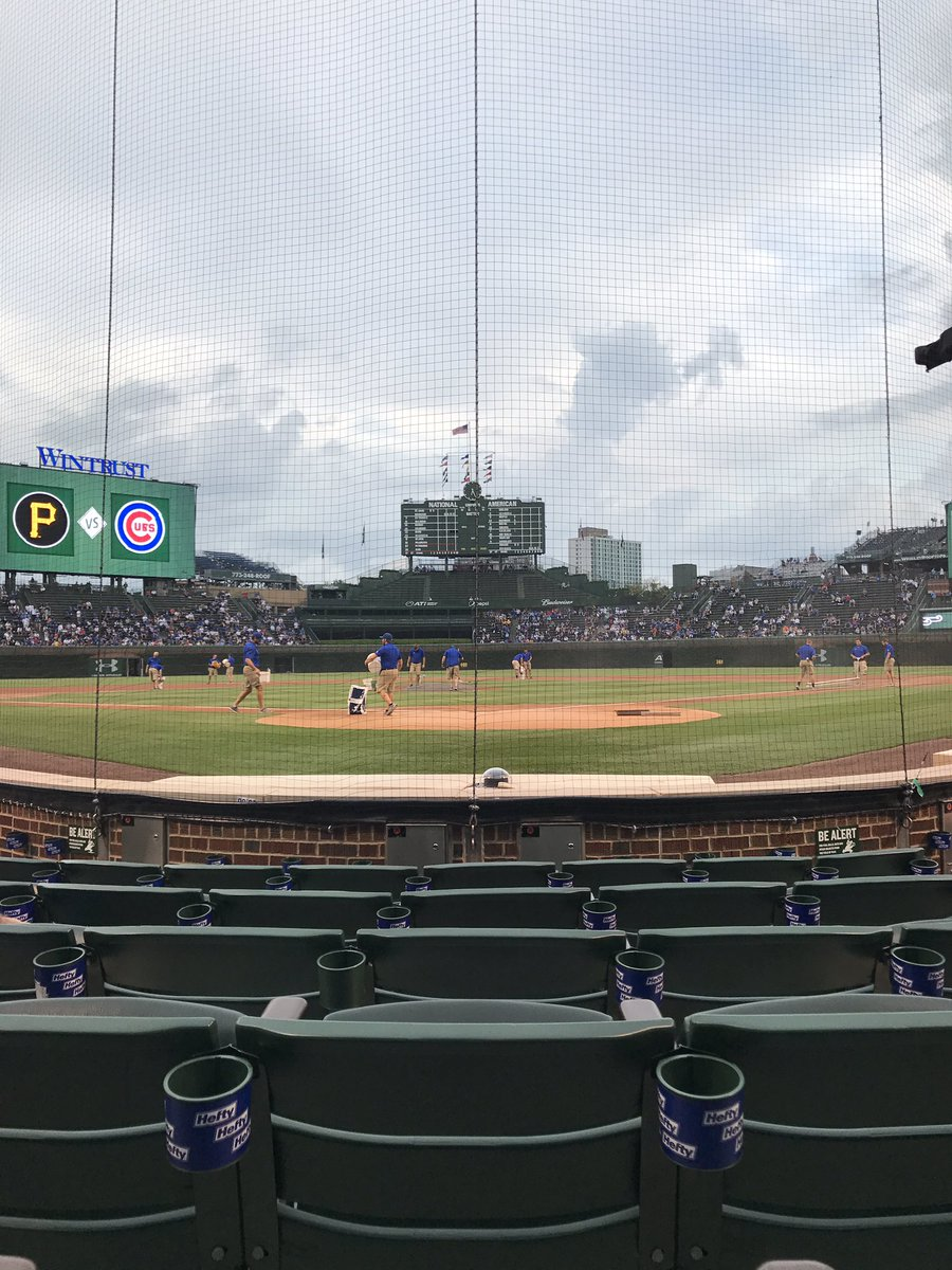 Netting behind home plate at Wrigley Field, Home of the Chicago Cubs