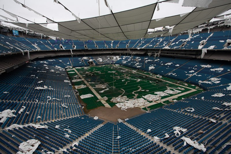 Photo of the Pontiac Silverdome, former home of the Detroit Lions