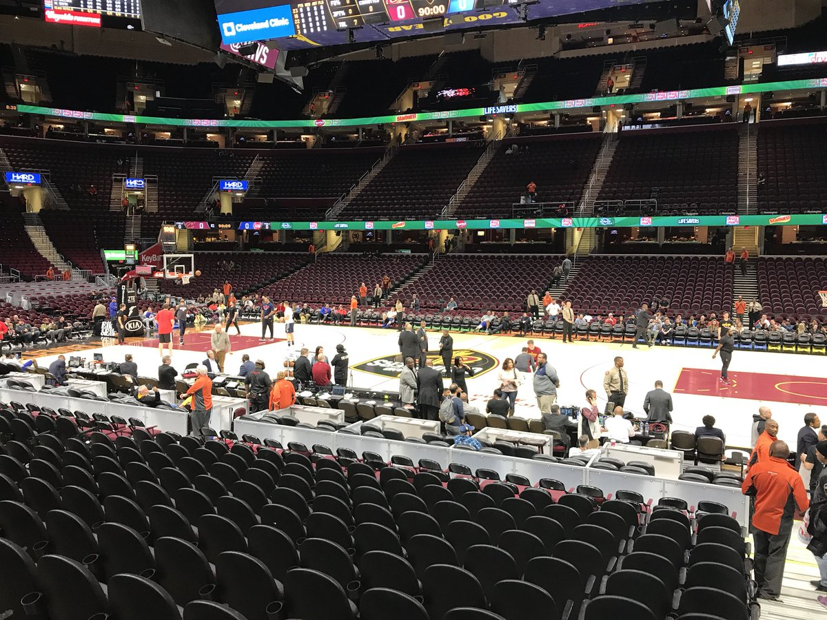 View of Quicken Loans Arena before a Cleveland Cavaliers game.