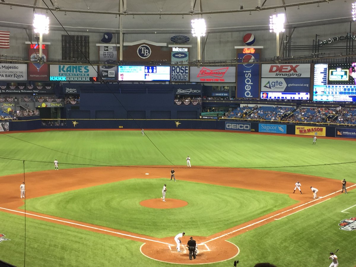 View from the press level at Tropicana Field. Home of the Tampa Bay Rays.
