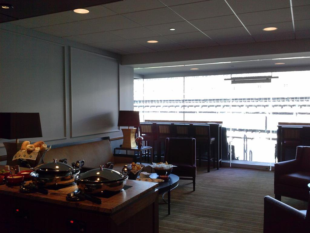 Photo of a private suite at Metlife Stadium, home of the New York Giants and Jets.