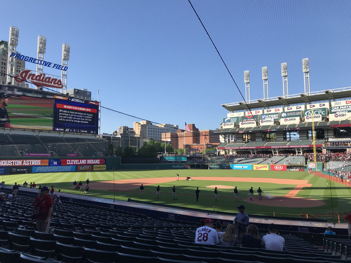 Panoramic photo of Progressive Field. Home of the Cleveland Indians.