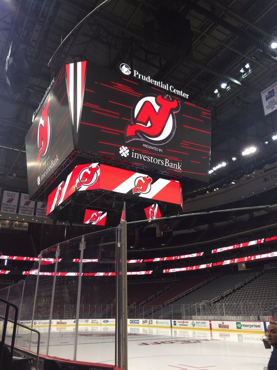 View of the new Scoreboard at the Prudential Center, Home of the New Jersey Devils