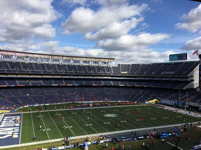 Qualcomm Stadium, Former Home of the San Diego Chargers