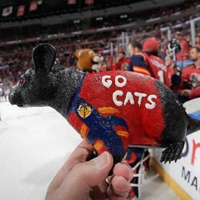 Plastic Rat sold at the BB&T Center, Home of the Florida Panthers