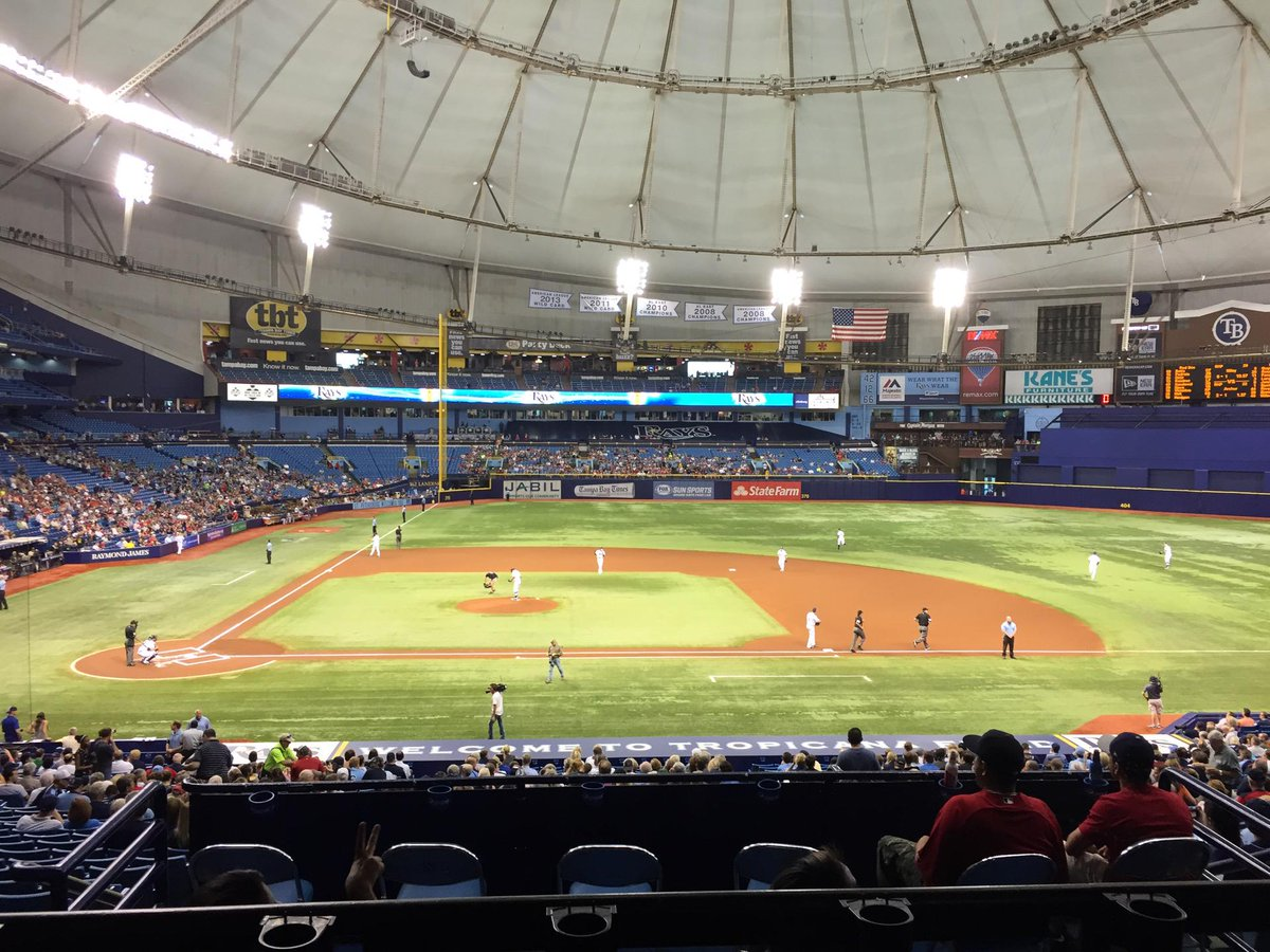 View from the Rays Club at Tropicana Field during a Tampa Bay Rays game.