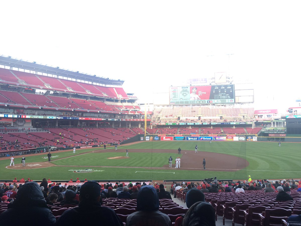 Cincinnati Reds vs. Milwaukee Brewers at Great American Ball Park in Cincinnati, Ohio.