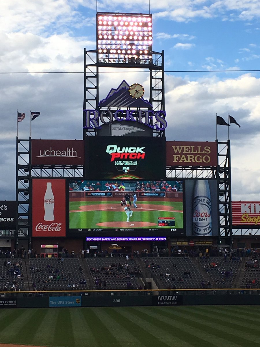 View of the Scoreboard at Coors Field, Home of the Colorado Rockies