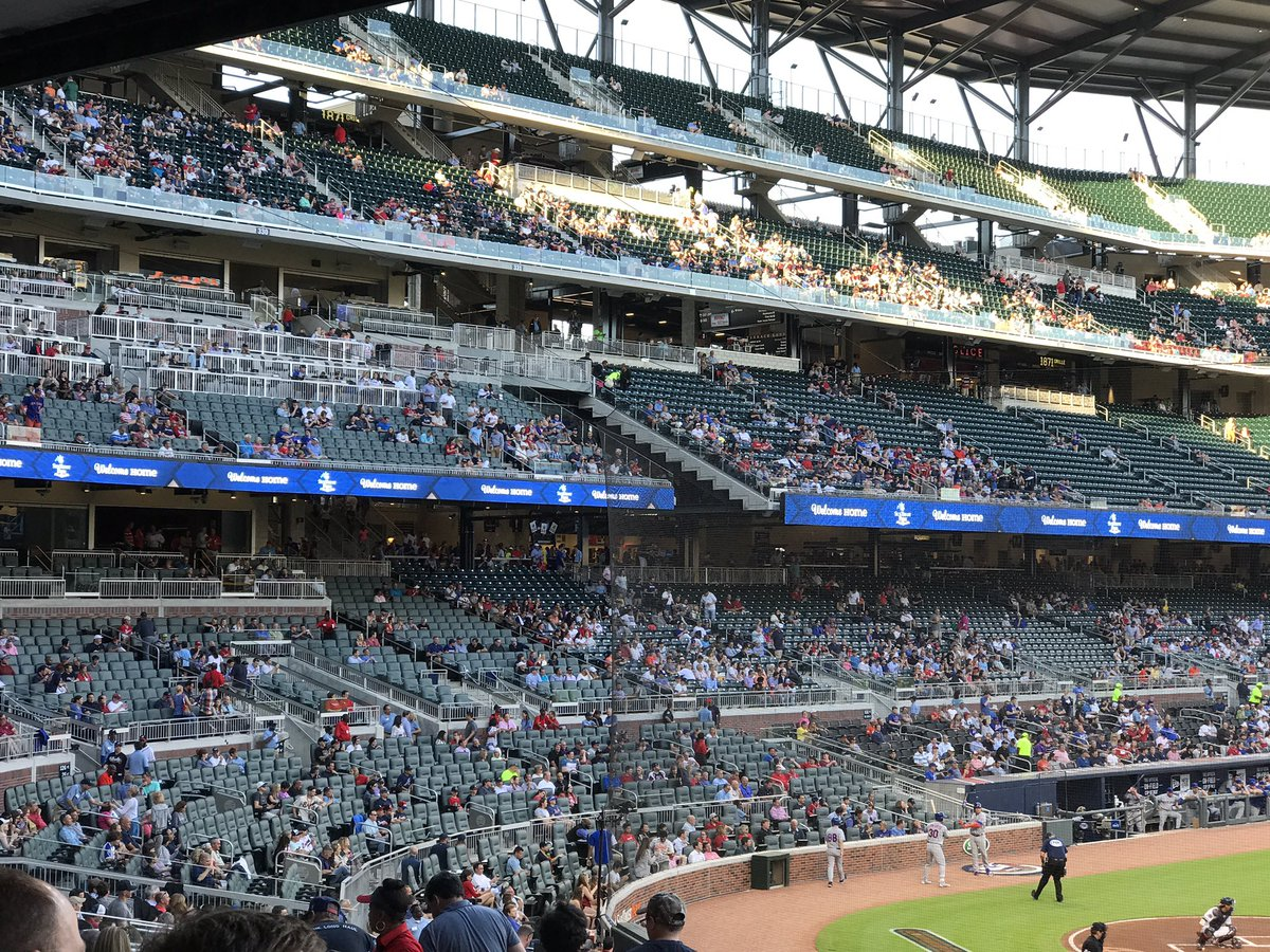 Empty Seats at SunTrust Park, Home of the Atlanta Braves