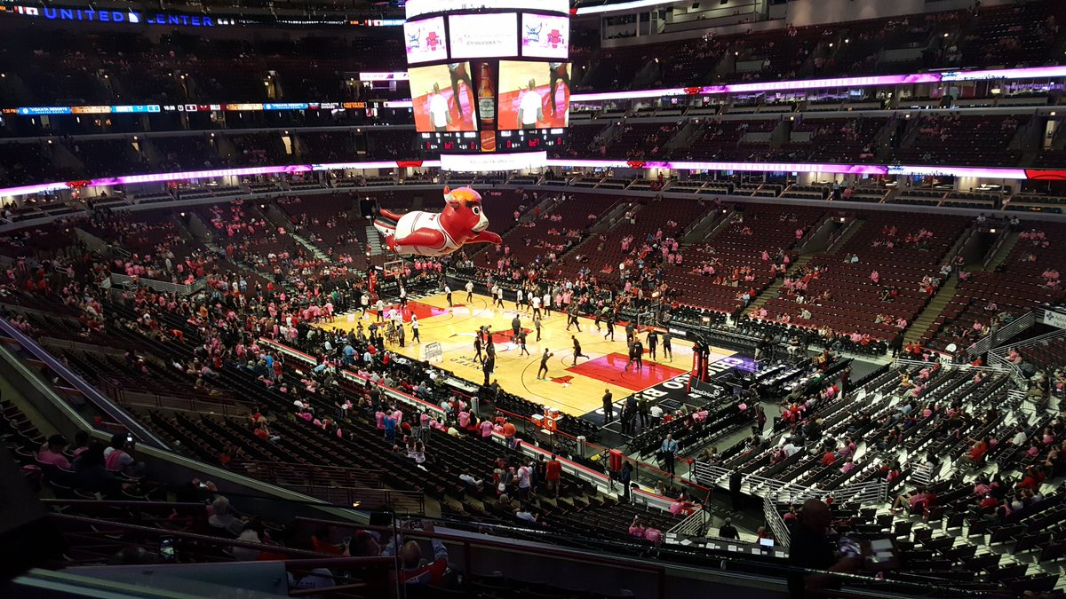 Interior view of the United Center, home of the Chicago Bulls