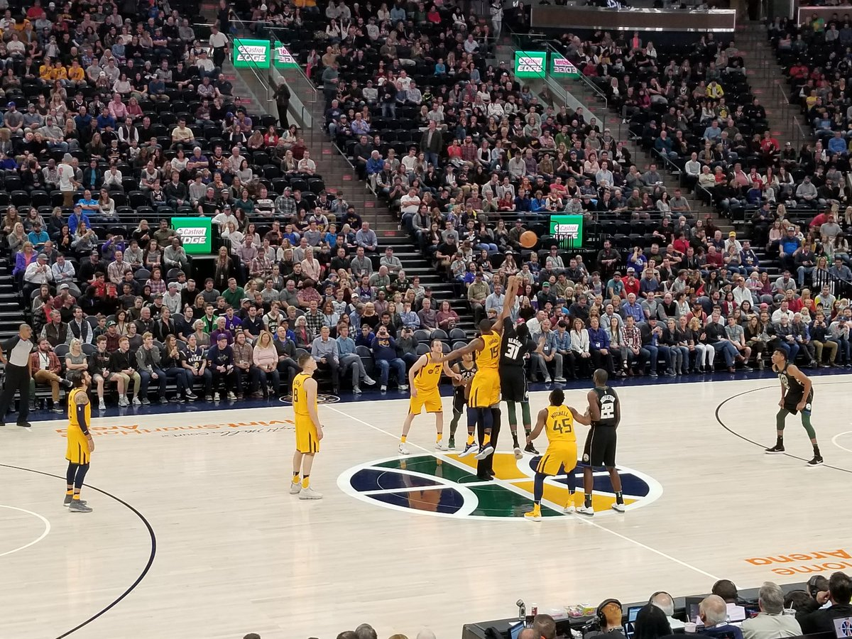 Tipoff at a Utah Jazz game at Vivint Smart Home Arena.