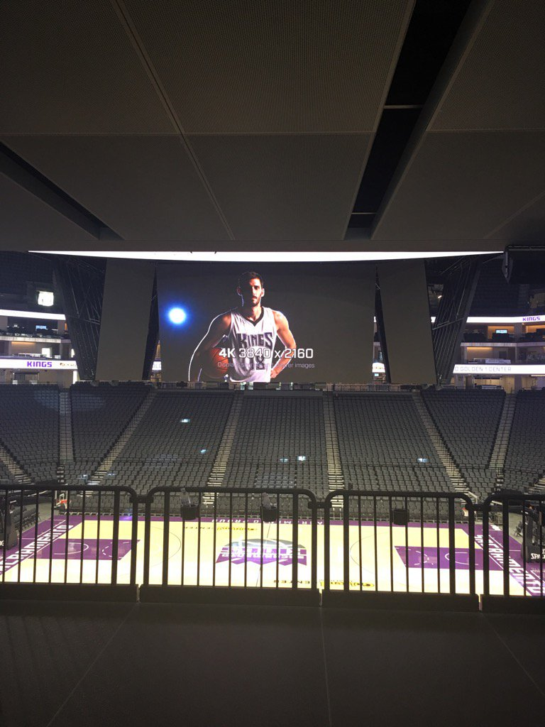 Standing Room Only area at the Golden 1 Center, Home of the Sacramento Kings