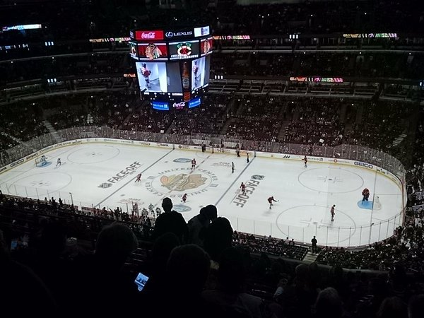 View from the 300 Level at the United Center during a Chicago Blackhawks Game