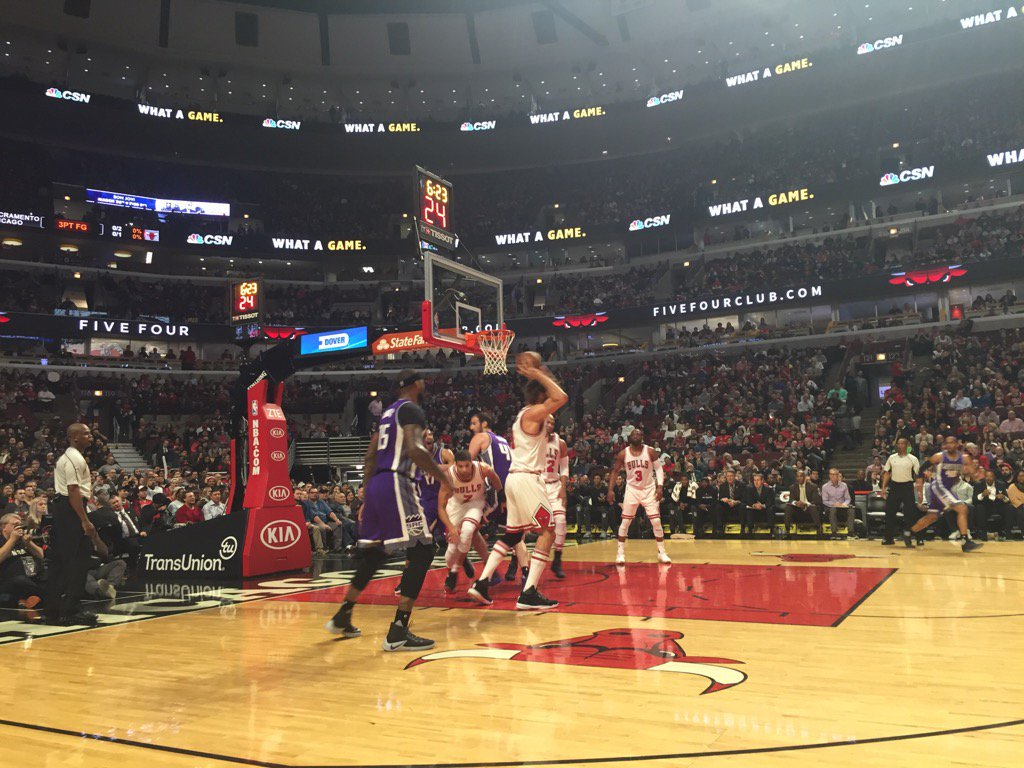 Courtside Seats at the United Center during a Chicago Bulls Game