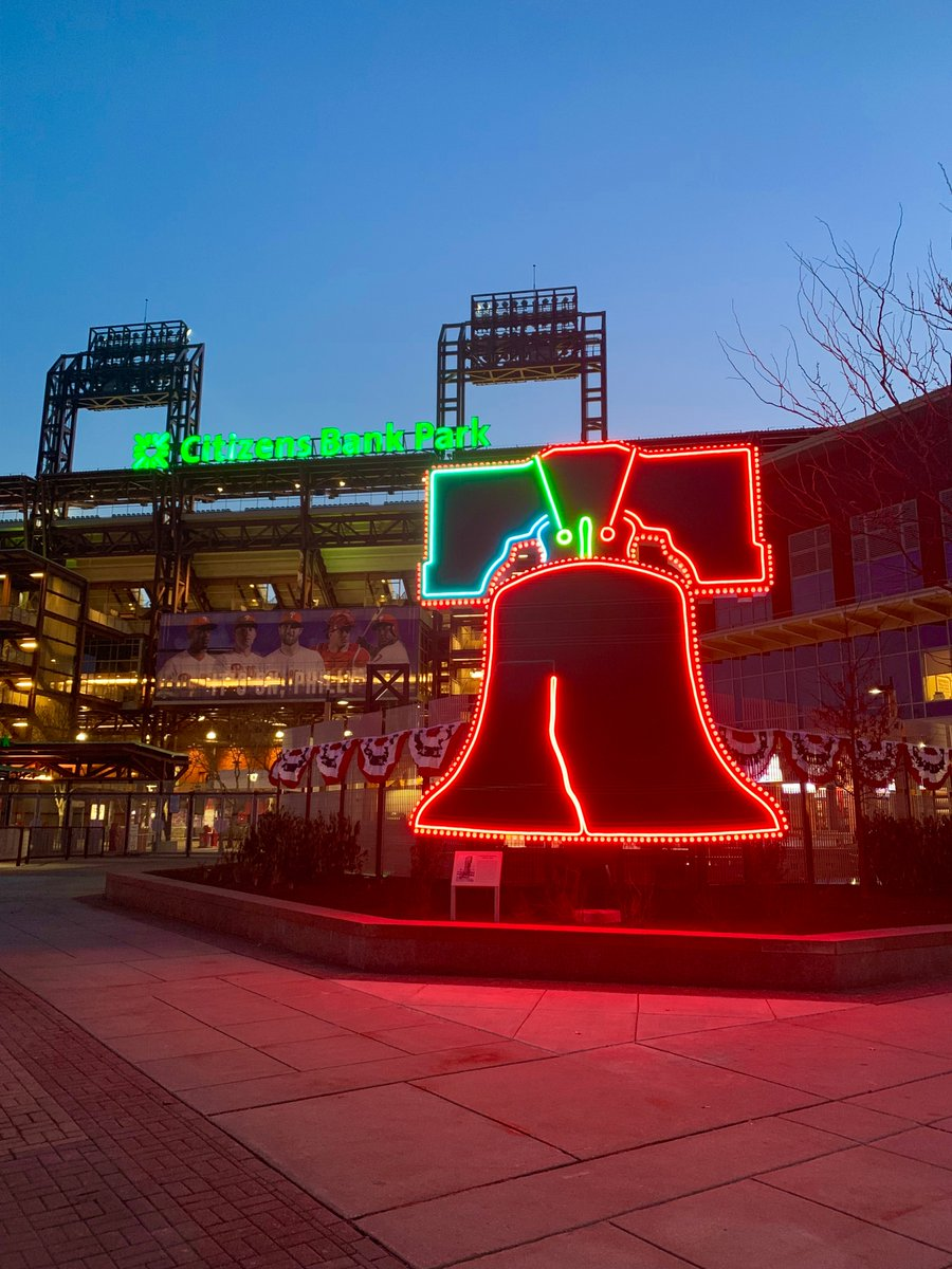 Veterans Stadium liberty bell outside of Citizens Bank Park, home of the Philadelphia Phillies.
