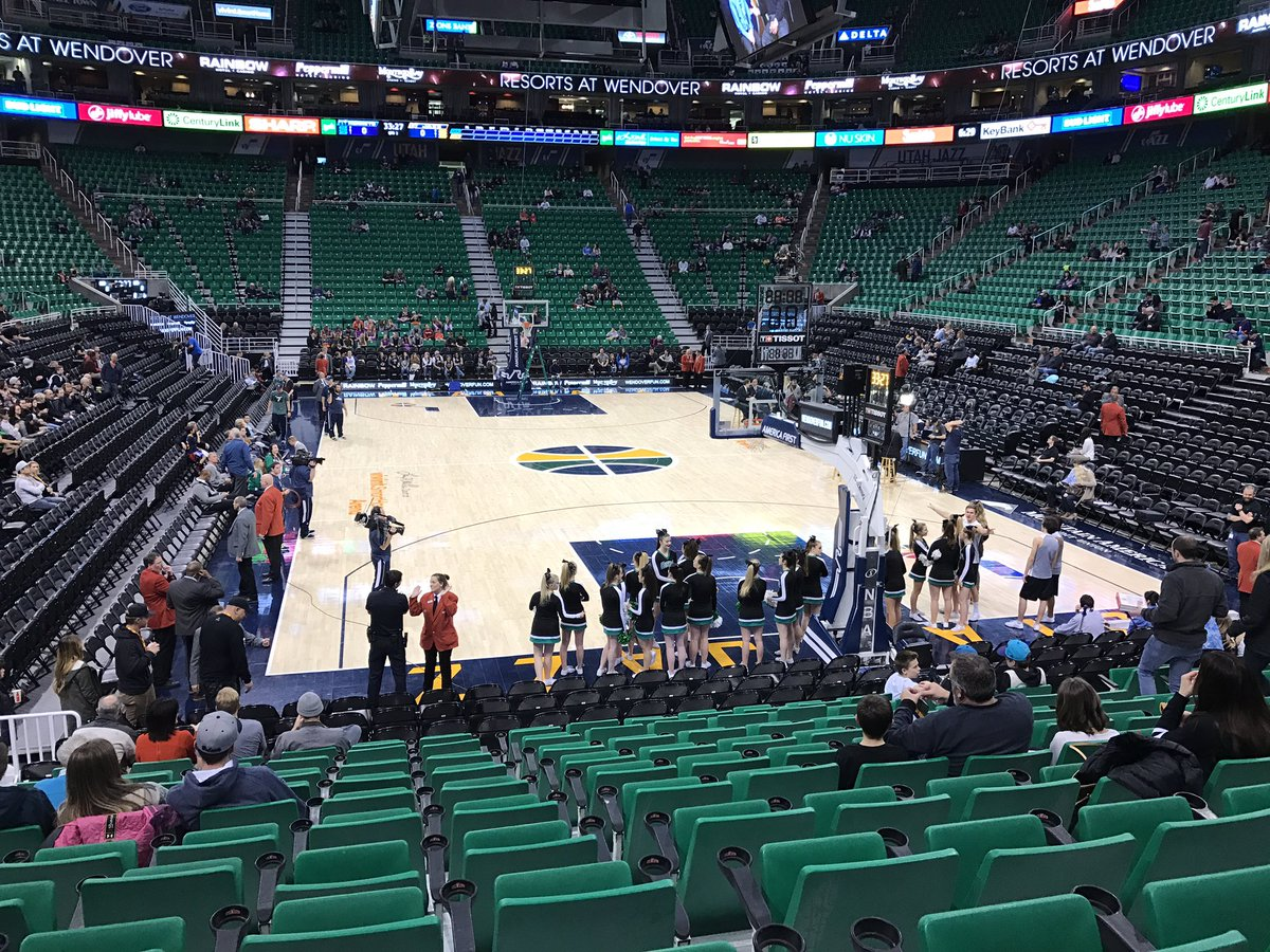 View of the Court at Vivint Smart Home Arena, Home of the Utah Jazz