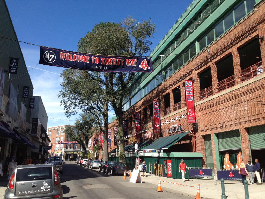 Photo of Yawkey Way outside of Fenway Park. Home of the Boston Red Sox.