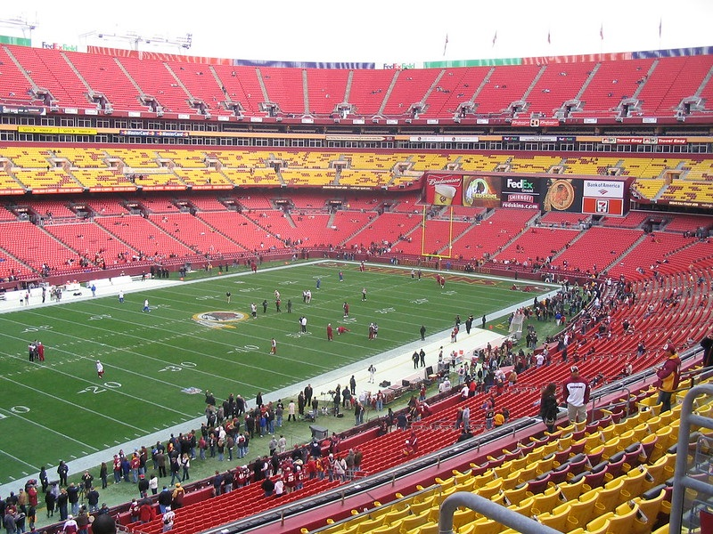 Photo taken from the club level seats at Fedex Field. Home of the Washington Redskins.