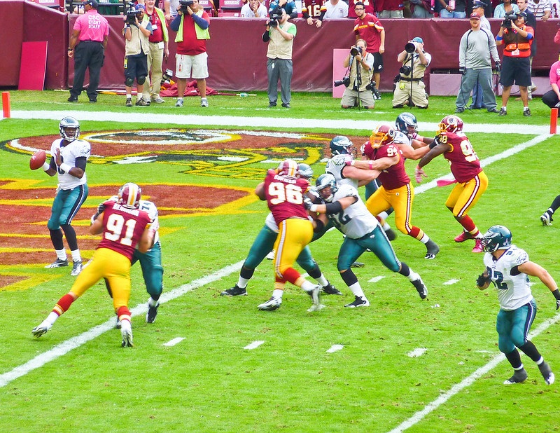 Photo taken from the dream seats at Fedex Field during a Washington Redskins home game.