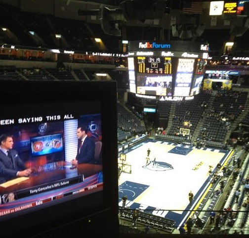 View from the Club Box seats at Fedex Forum before a Memphis Grizzlies game.