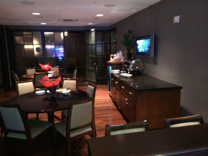 Interior photo of a suite at FedexForum, home of the Memphis Grizzlies.