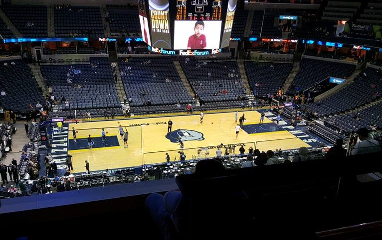 View from a suite at FedexForum before a Memphis Grizzlies game.