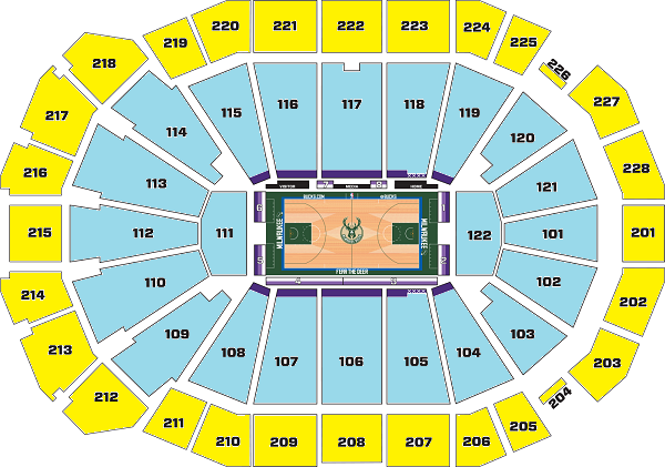 Fiserv Forum Seating Chart, Milwaukee Bucks