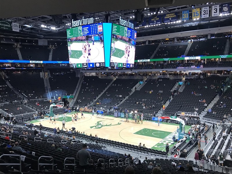 Photo taken from the lower level of Fiserv Forum. Home of the Milwaukee Bucks.